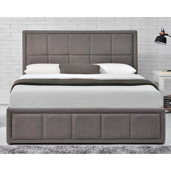 Hannover Ottoman Fabric Double Bed In Grey_3