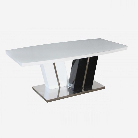 Harlem Glass Top Coffee Table In White And Black High Gloss Base