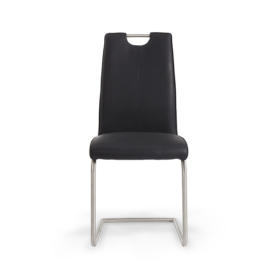 Harley Harley Dining Chair In Black Faux Leather In A Pair_3