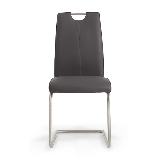 furniture dining chairs harley dining chair in grey faux leather with