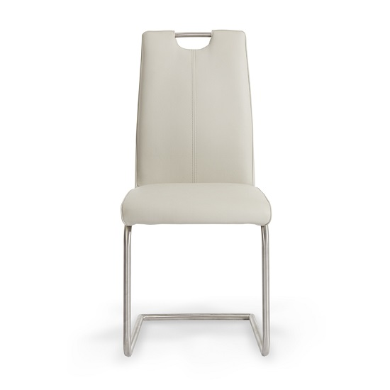Harley Dining Chair In Taupe Faux Leather In A Pair_3