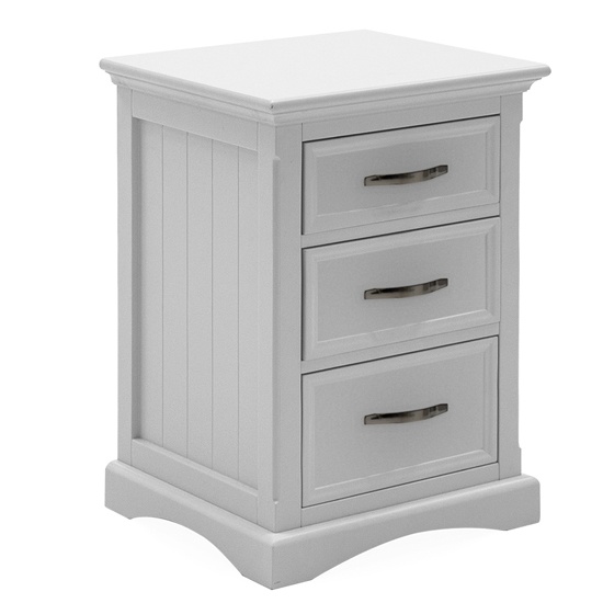 Harlow Wooden Bedside Table In White
