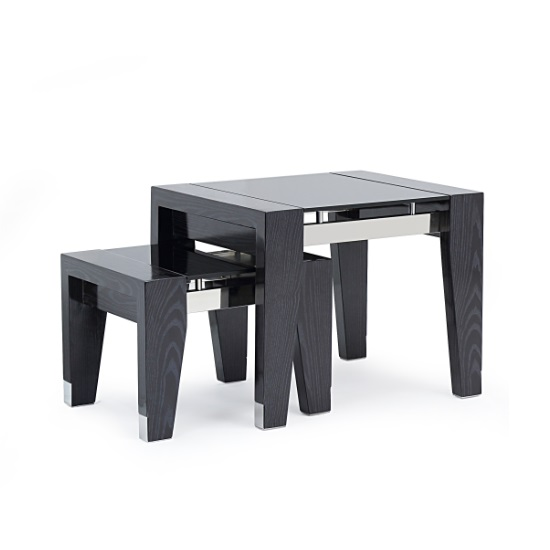 Nests of tables image collections table decoration ideas harper glass nesting tables square in black apricot 27923 harper glass nesting tables square in black watchthetrailerfo