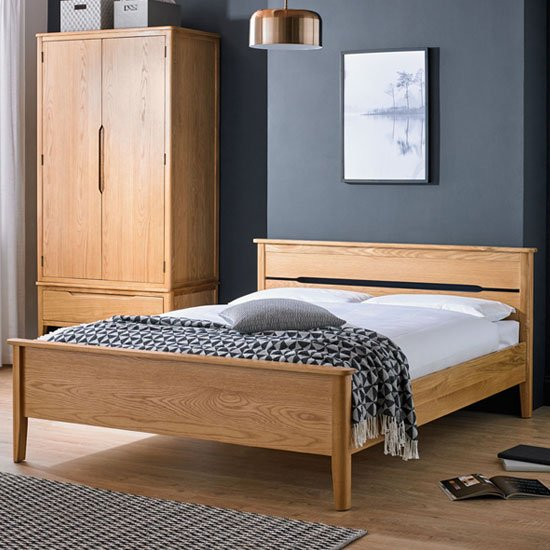 Harriet Wooden King Size Bed In Robust Solid Oak