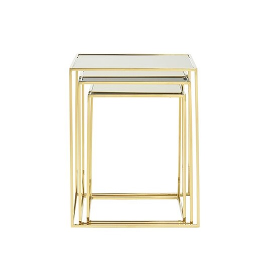 Harris Mirrored Top Nest Of 3 Tables With Polsihed Gold Legs_3