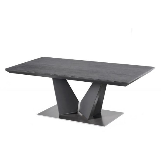 Harrison Coffee Table Rectangular In Grey Ceramic