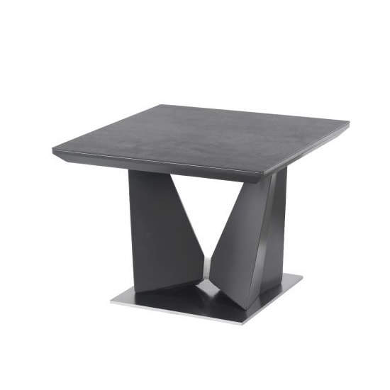 Harrison Modern Side Table Square In Grey Ceramic
