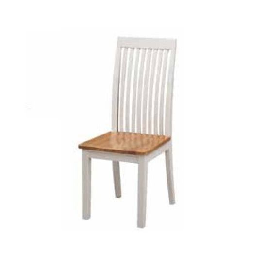 Hart Wooden Slatback Dining Chair In Stone Painted Finish