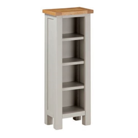 Hart Wooden DVD Storage Stand In Stone Painted Finish_1