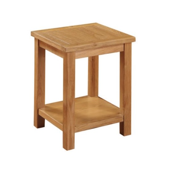 Hart Wooden End Table In Oak Finish