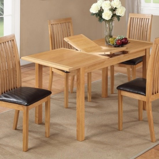 Hart Wooden Extending Dining Table In Oak Finish
