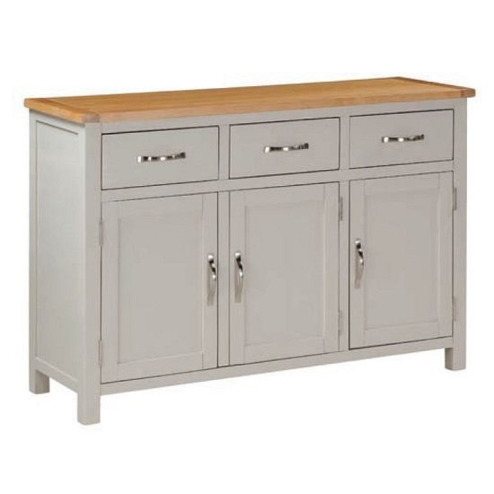 Hart Wooden Large Sideboard In Stone Painted Finish