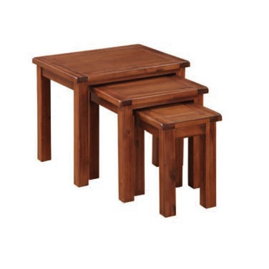 Hart Wooden Nest Of Tables In Acacia Finish