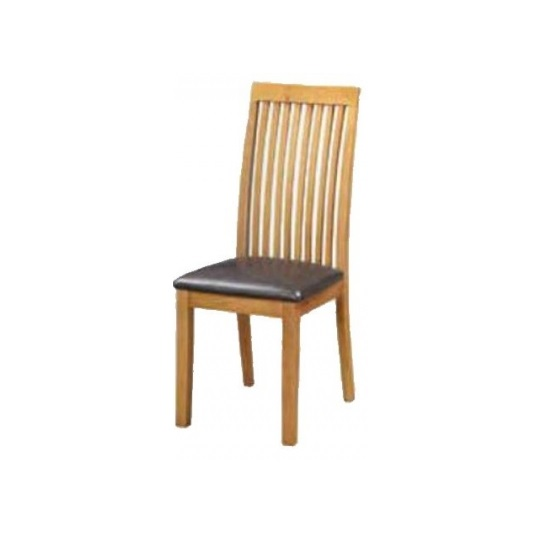 Hart Wooden Slatback Dining Chair In Oak Finish