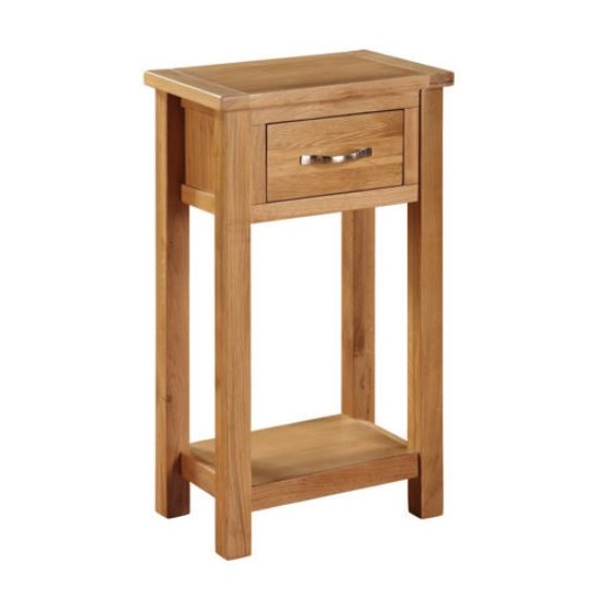 Hart Wooden Small Console Table In Oak Finish
