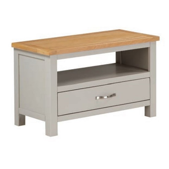 Hart Wooden TV Stand In Stone Painted Finish