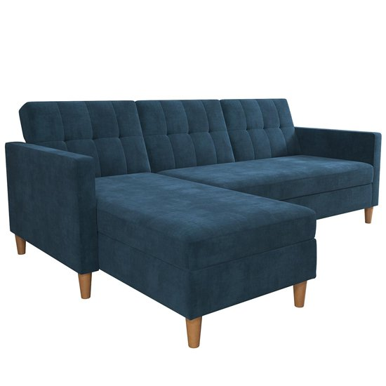 Hartford Sectional Fabric Storage Chaise Sofa Bed In Blue_4