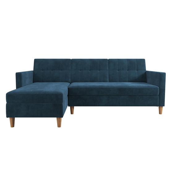 Hartford Sectional Fabric Storage Chaise Sofa Bed In Blue_5