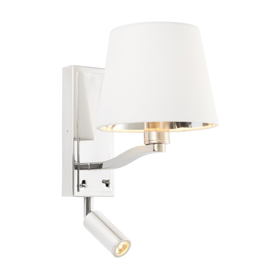 View Harvey large wall light in bright nickel