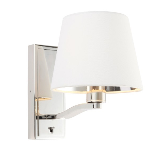 Harvey Small Wall Light In Bright Nickel