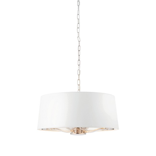 View Harvey wall hung 1 pendant light in bright nickel