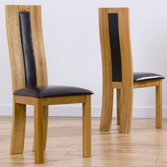 Havania Cream Wooden Dining Chairs In A Pair