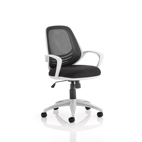 Haydon Office Chair In Black With White Frame