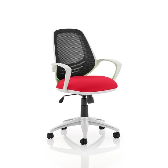 Haydon Office Chair In Cherry With White Frame