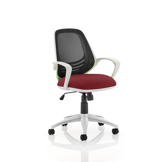 Haydon Office Chair In Chilli With White Frame