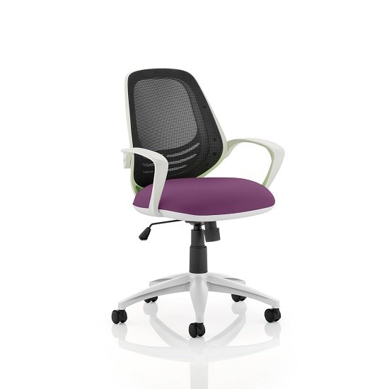 Haydon Office Chair In Purple With White Frame