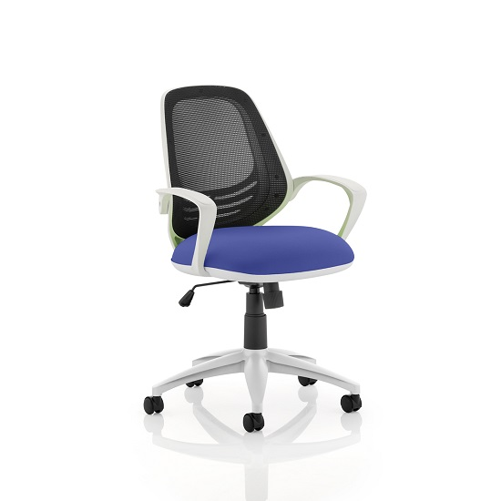 Haydon Office Chair In Serene With White Frame