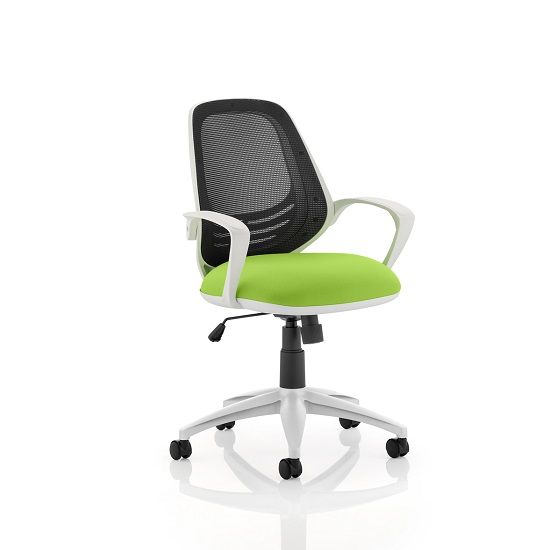 Haydon Office Chair In Green With White Frame
