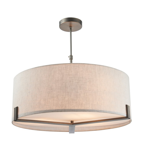 Hayfield Wall Hung Pendant Light In Brass