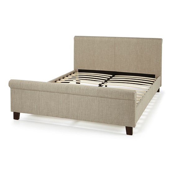 Hazel Linen Fabric Upholstered Double Bed_2