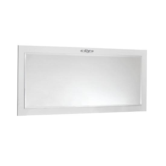 Hazel Wall Mirror Rectangular In White High Gloss