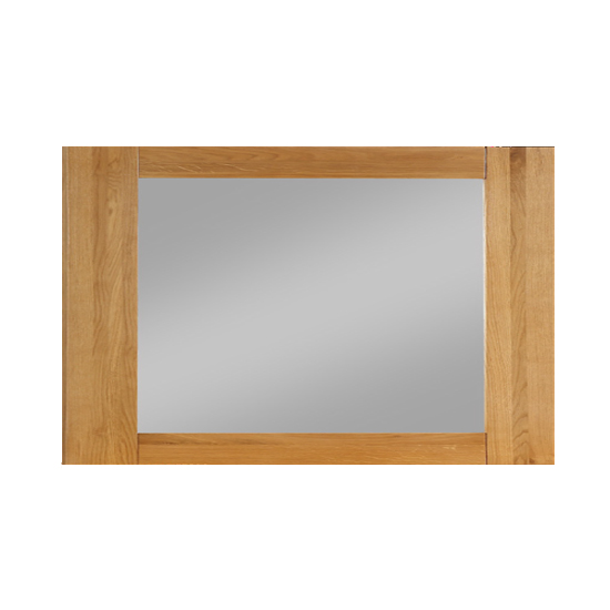 Heaton Bevelled Bedroom Mirror With Rustic Light Oak Frame