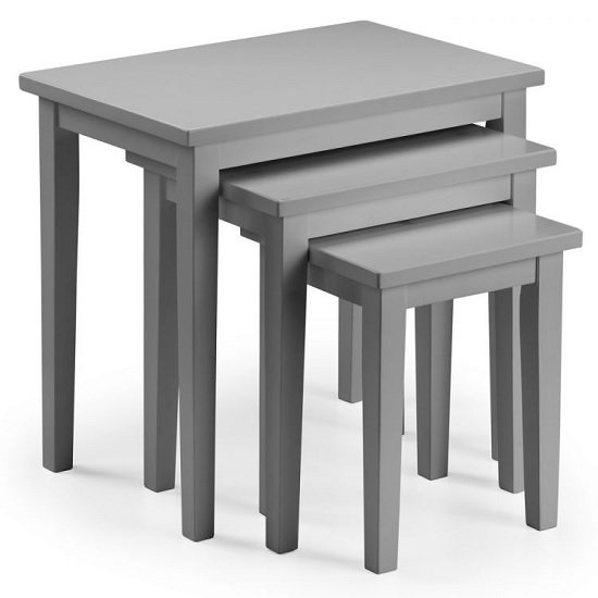 Heaton Wooden Set Of 3 Nest of Tables In Lunar Grey Lacquer_2
