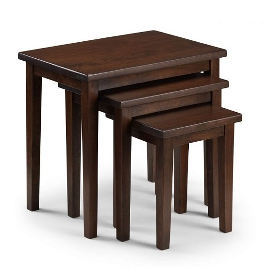 Heaton Wooden Set Of 3 Nest of Tables In Mahogany_2
