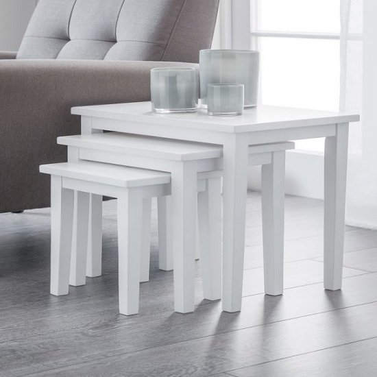Heaton Wooden Set Of 3 Nest of Tables In White_1
