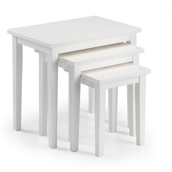 Heaton Wooden Set Of 3 Nest of Tables In White_2