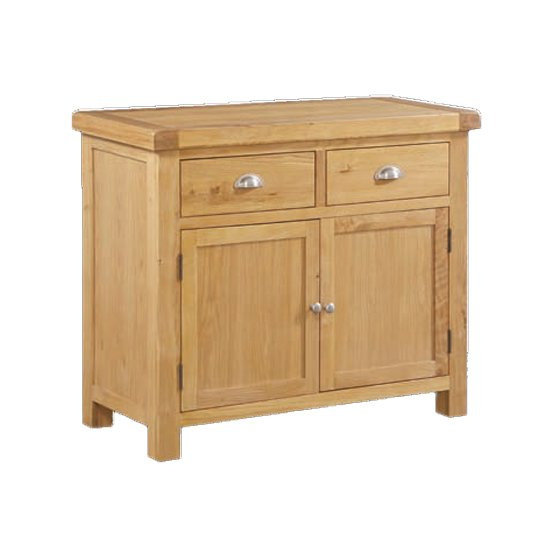 Heaton Sideboard In Rustic Light Oak With 2 Doors And 2 Drawers