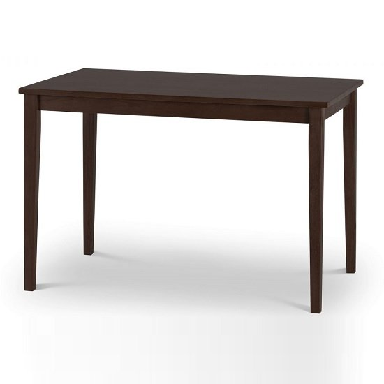 Heaton Wooden Dining Table In Mahogany Lacquered