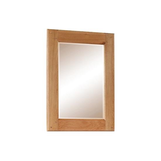 Heaton Wooden Bedroom Wall Mirror Rectangular In Solid Oak