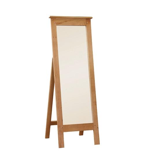 Heaton Wooden Floor Standing Mirror Rectangular In Solid Oak