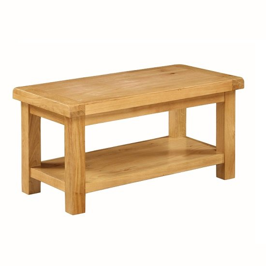 small rectangle coffee table. Heaton Wooden Small Coffee Table In Solid Oak With Undershelf_1 Rectangle