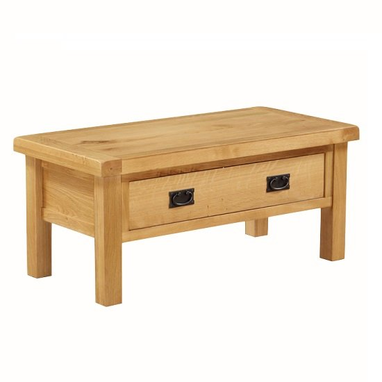 Small Coffee Tables Home Bargains: Heaton Wooden Small Coffee Table In Solid Oak With 1 Drawer