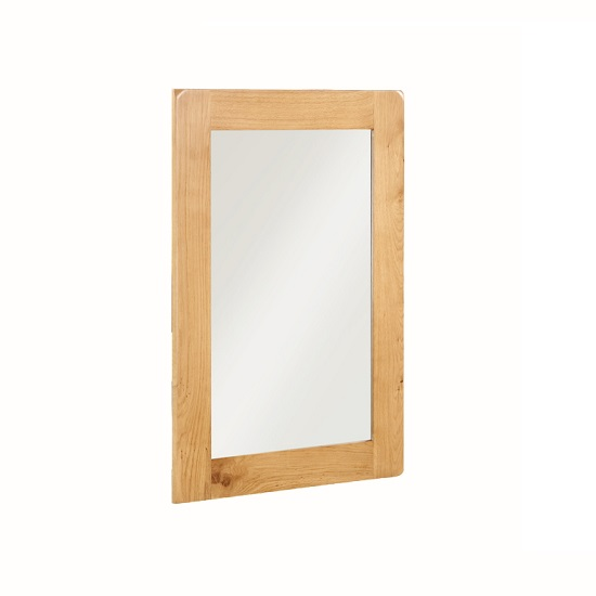 Read more about Heaton wooden wall mirror rectangular in solid oak