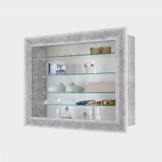 heaven wall mounted glass display cabinet in light atelier
