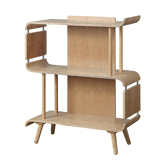 Hector Contemporary Wooden Bookcase In Ashwood_2