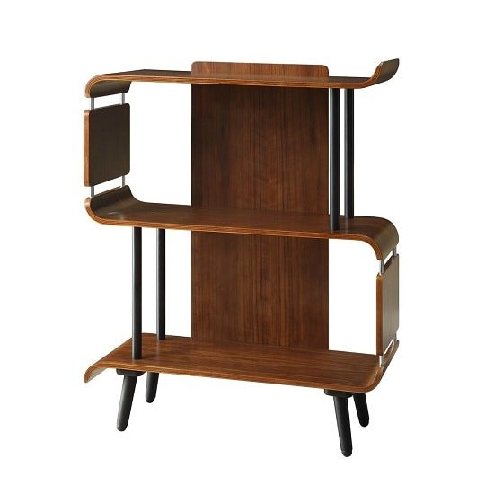 Hector Contemporary Wooden Bookcase In Walnut_2